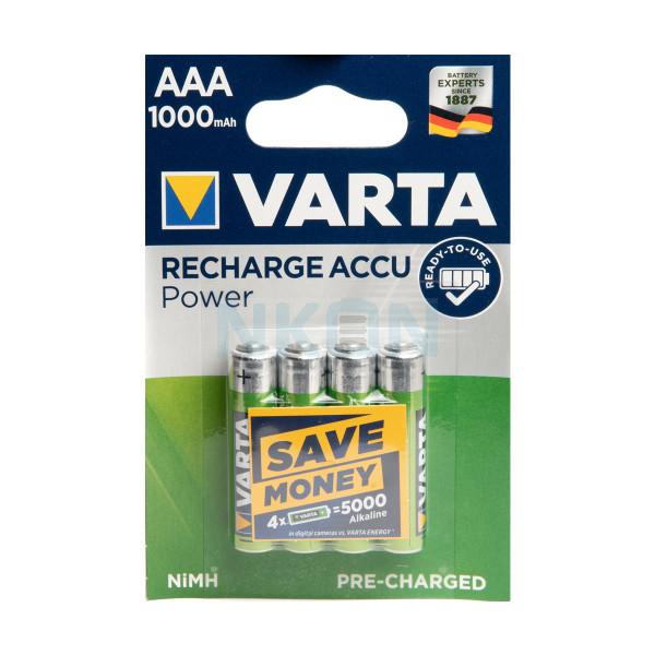 4 AAA Varta Recharged Accu Power - 1000mAh