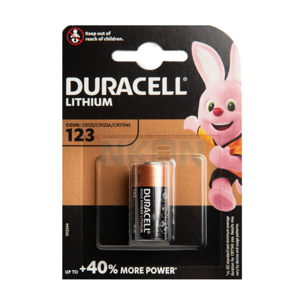 Duracell Lithium CR123A - blister