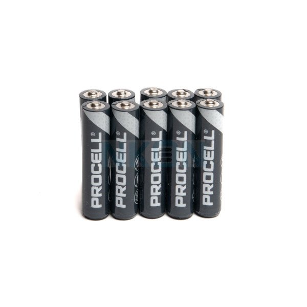 10 AAA Duracell Procell / Industrial - 1.5V