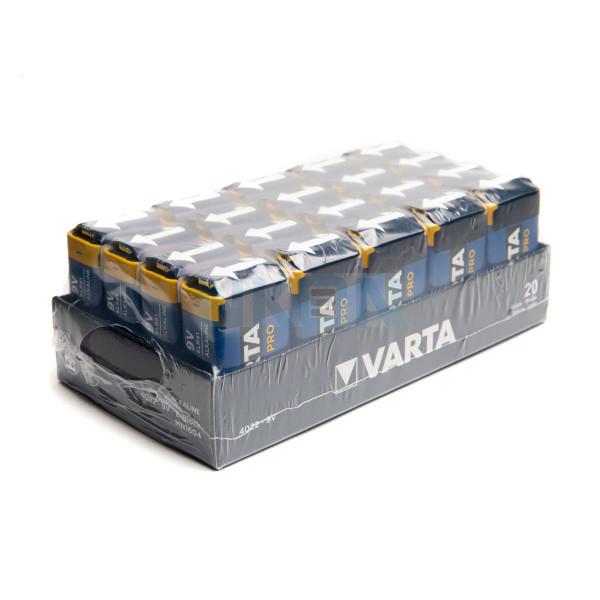 20x 9V Varta Industrial Pro