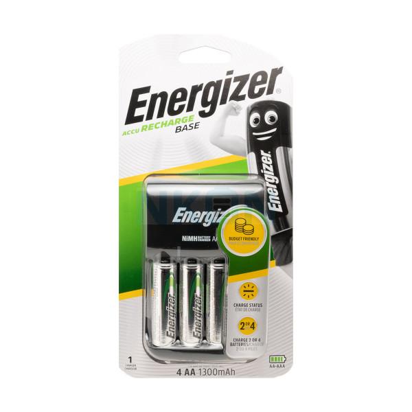 Chargeur de batterie Energizer Base + 4 piles AA Energizer (1300mAh)