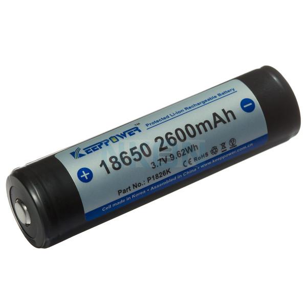 Keeppower 18650 2600mAh (protégé) - 5.2A