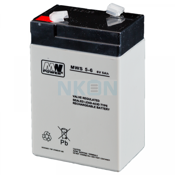 MWPower 6V 5Ah Batterie au plomb