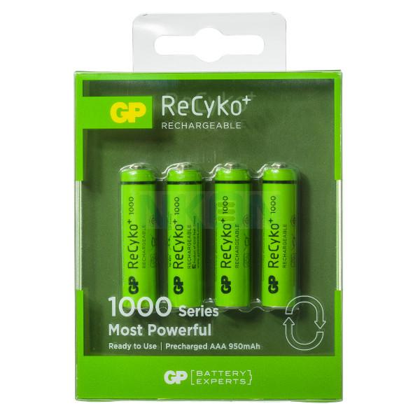 4 AAA GP Recyko+ 1000 - 950mAh