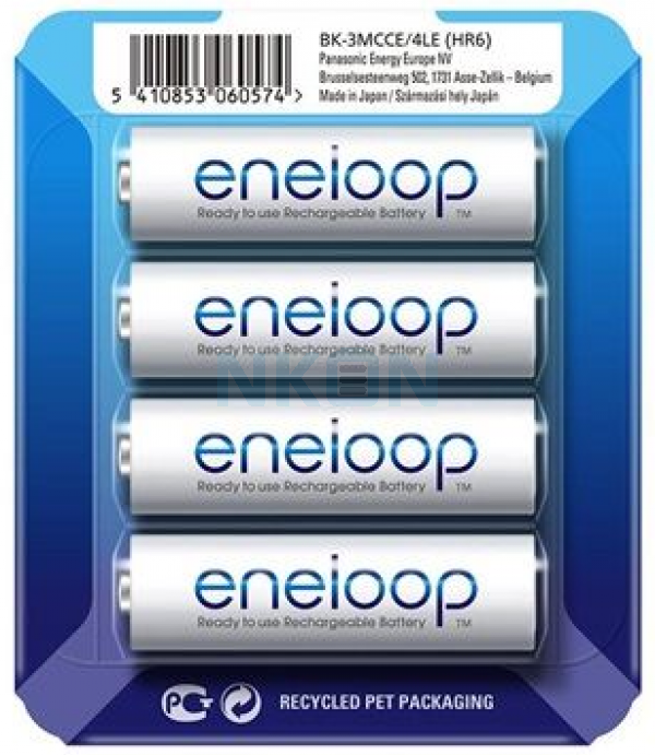 4 AA Eneloop - blister coulissant - 1900mAh