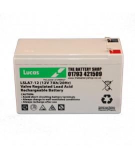 Lucas 12V 7Ah Batterie au plomb