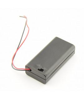 2x boîtier de piles AA avec fils lâches et interrupteur