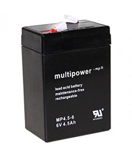 Multipower 6V 4.5Ah Batterie au plomb (4.8mm)