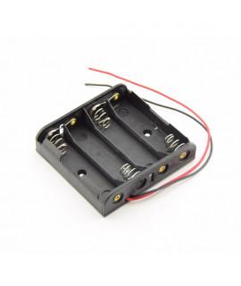 Porte-piles 4x AA avec fils détachés