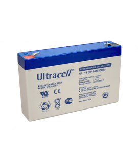 Ultracell 6V 7Ah Batterie au plomb
