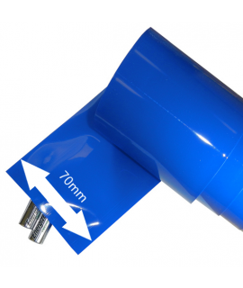 Largeur du tube thermo-rétractable: 70mm