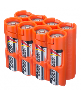8 étuis de piles AA Powerpax - Orange