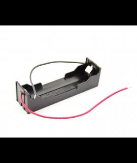1x 18650 support de batterie avec contacts de serrage et fils lâches