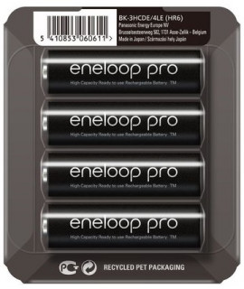 4 AA Eneloop Pro - blister coulissant - 2500mAh