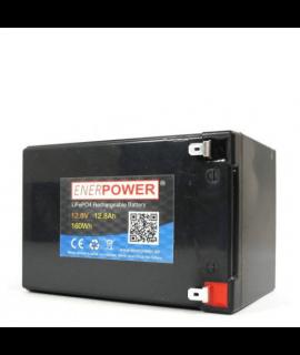 Enerpower 12.8V 12Ah - LiFePo4 (remplacement de la batterie au plomb)