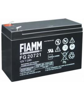 Fiamm FG 12V 7.2Ah Batterie au plomb (4.8mm)
