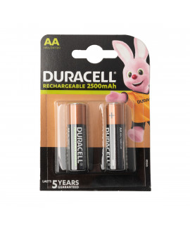 2 AA Duracell Rechargeable - 2500mAh