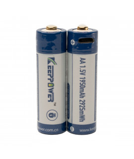 2x Keeppower AA 1950mAh (protected) - 1.5A - USB
