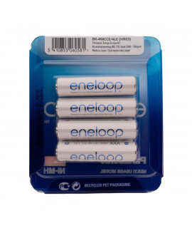 4 AAA Eneloop - coulissant blister - 750mAh