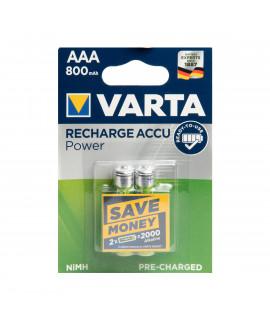 2 AAA Varta Recharge Accu Power - 800mAh