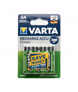 4 AA Varta Recharge Accu Power - 2600mAh