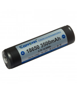 Keeppower 18650 3500mAh (protégé) - 10A (Button-top)