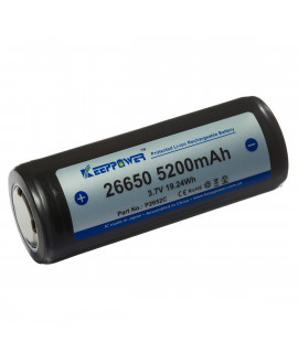 Keeppower 26650 5200mAh (protégé) - 12A