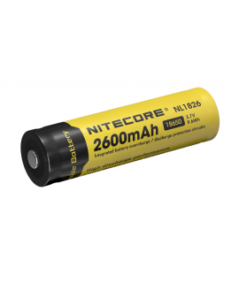 Nitecore 18650 NL1826 2600mAh (protégé) - 4A