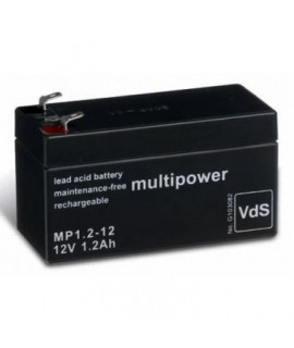 Multipower 12V 1,2Ah (4.8mm) Batterie plomb-acide
