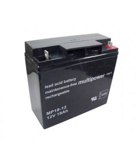 Multipower 12V 18Ah Batterie au plomb