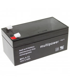 Multipower 12V 3.4Ah Batterie au plomb