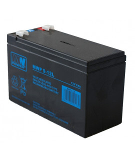 MWPower Deep Cycle 12V 9Ah Batterie au plomb (6.3mm)