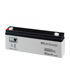 MWPower 12V 2.3Ah Batterie au plomb