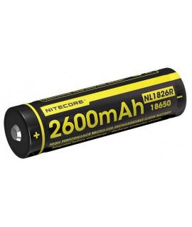 Nitecore 18650 NL1826R USB 2600mAh (protected) - 5A