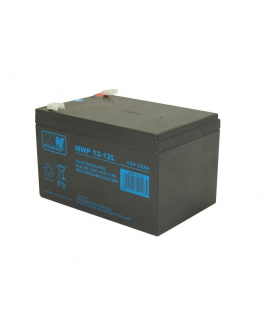 MWPower Deep Cycle 12V 12Ah Batterie au plomb (6.3mm)