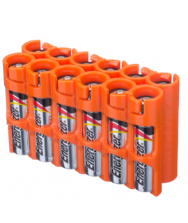 Boîtier de pile 12 AAA Powerpax - Orange