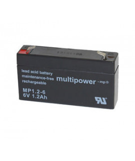 Multipower 6V 1.2Ah Batterie au plomb (4.8mm)