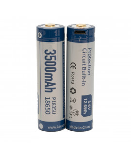 2x Keeppower 18650 3500mAh (protected) - 8A - USB