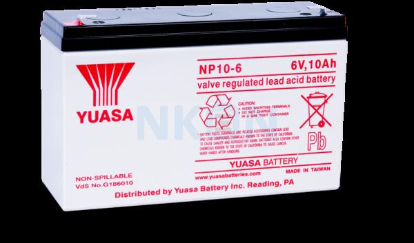 Yuasa 6V 10Ah Batería de plomo