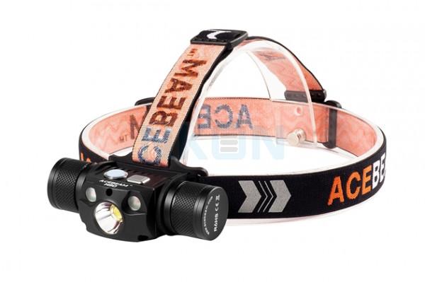 Lámpara frontal Acebeam H30 Neutro Blanco (5000K) + LED Nichia UV