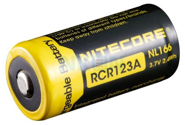 Nitecore RCR123A NL166 650mAh - 4A