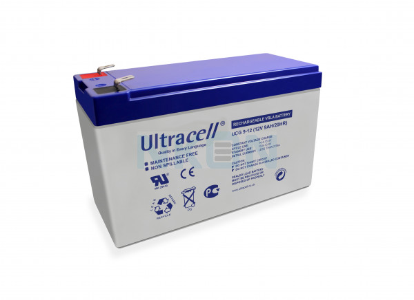 Ultracell Deep Cycle Gel 12V 9Ah Batería de plomo
