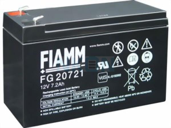Fiamm FG 12V 7.2Ah (4.8mm) Batería de plomo