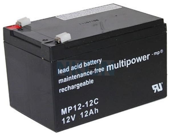 Multipower Deep Cycle 12V 12Ah Batería de plomo