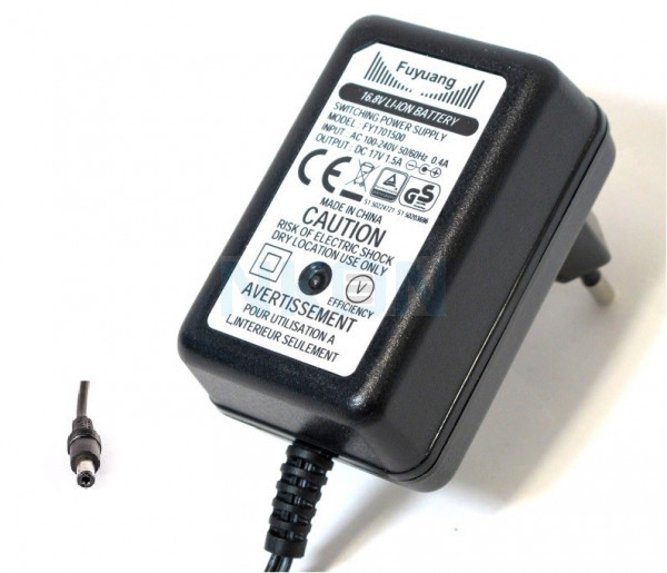 Enerpower 16.8V 4S DC-plug cargador de batería de bicicleta - 1.5A