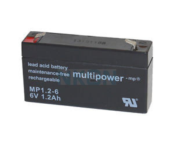 Multipower 6V 1.2Ah Batería de plomo (4.8mm)