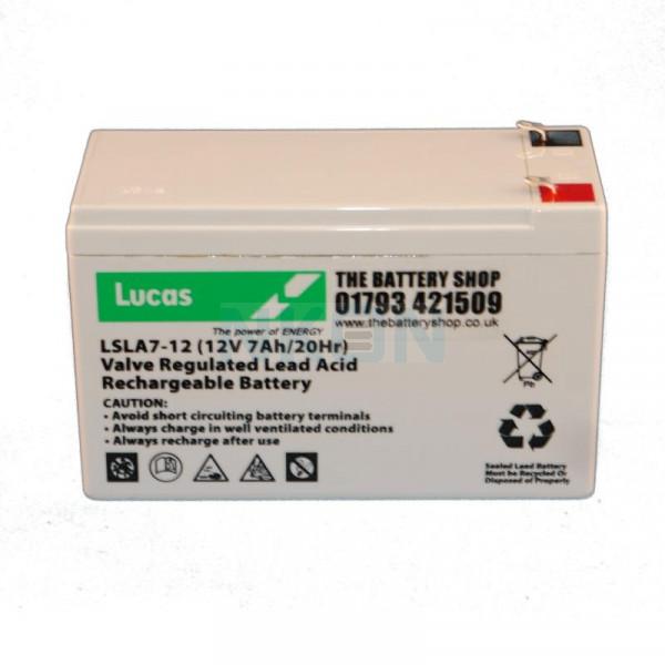 Lucas 12V 7Ah Batería de ácido sólido