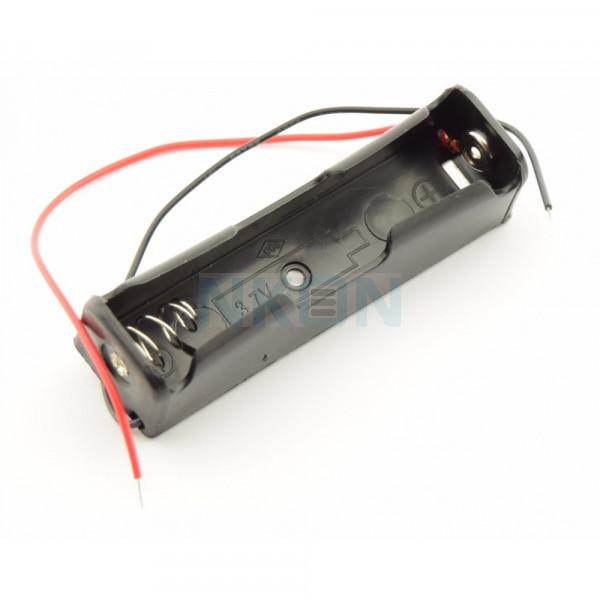 Soporte de batería 1x 18650 con cables sueltos