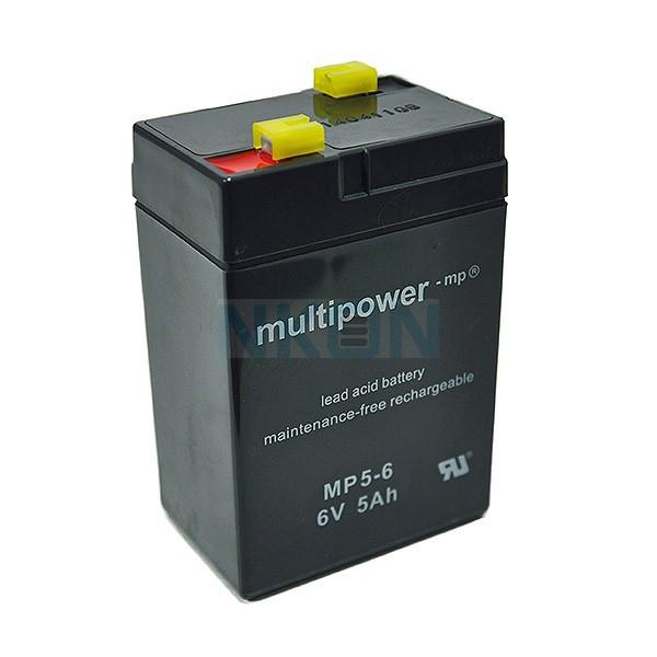 Multipower 6V 5Ah Batería de plomo (4.8mm)