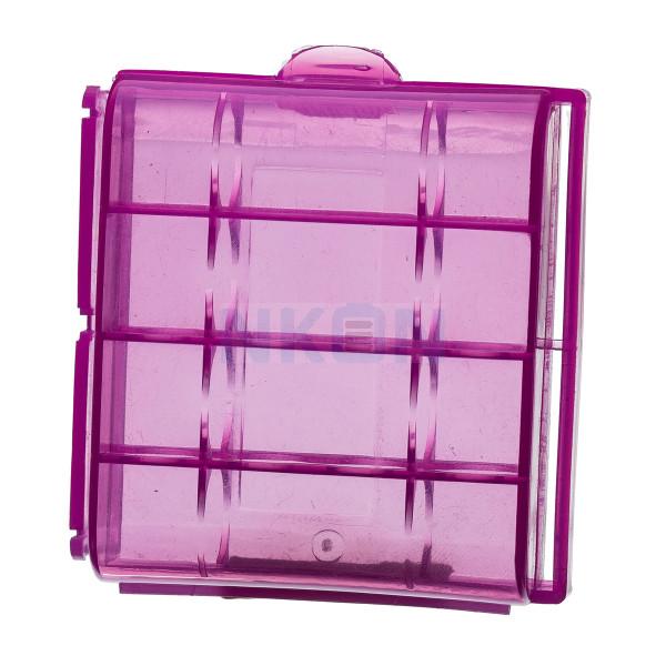 Caja de batería coloreada para 4 baterías AA / AAA